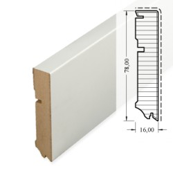 HOCO MDF Skirting white Cube 78mm