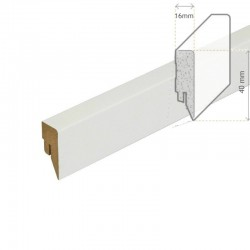 AMBE MDF Skirting white 40mm