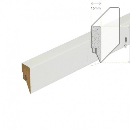 AMBE MDF Skirting white 40mm