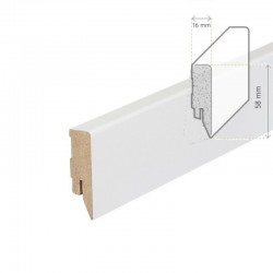 AMBE MDF Skirting white 58mm