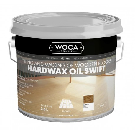 WOCA Hardwax oil Swift 2,5L Natur, white