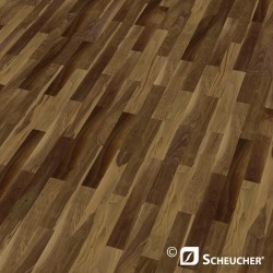 Nuss ami. Struktur Scheucher Woodflor 182 Schiffsboden Parkett 3 Stab