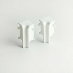 AMBE Internal Corners for Skirting Board Topline Inside Corners - White - 16 x 58 mm