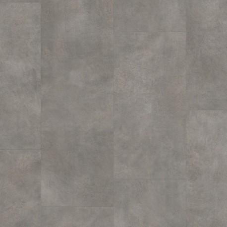 Dark Grey Concrete Pergo Rigid Click Vinyl Tiles Premium / Optimum