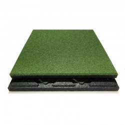 Safety rubber tiles green 50x 50cm, 48mm