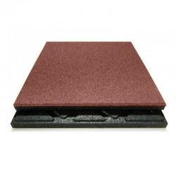 Fallschutzplatte rot 50 x 50 cm, 48mm SBR