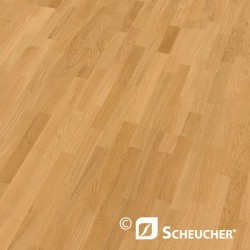 Oak Natur Scheucher Woodflor 182 Parquet Flooring 3-Strip